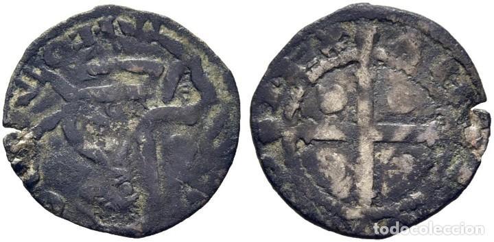ALFONSO IX. 1188-1230. DINERO. CORUÑA. C DELANTE DEL LEÓN. CY1082 (150 €). MBC. MUY RARA (Numismática - Medievales - Castilla y León)