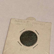 Moedas medievais: MONEDA CASTILLA Y LEON: ENRIQUE III CORNADO 1368-1379. Lote 224682736