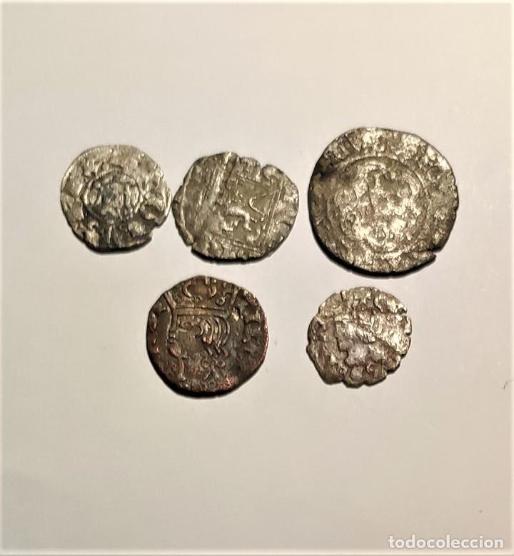 BONITO LOTE DE 5 MONEDAS MEDIEVALES (Numismática - Medievales - Castilla y León)