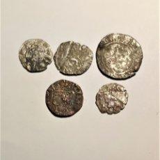 Moedas medievais: BONITO LOTE DE 5 MONEDAS MEDIEVALES. Lote 233423235