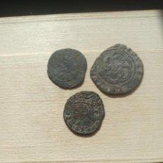 Monedas medievales: LOTE DE 2 MONEDAS DE ENRIQUE III Y 1 DE SANCHO IV. ( BURGOS ). Lote 234043115