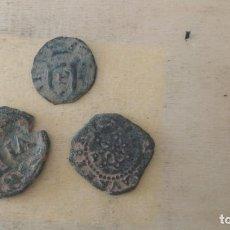 Monedas medievales: LOTE DE 3 MONEDAS ANTIGUAS DE PAMPLONA.. Lote 243060920
