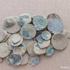 Monedas medievales: LOTE DE 34 MONEDAS PARA LIMPIAR E IDENTIFICAR. Lote 243564185