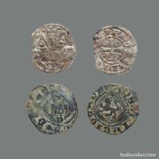 Monedas medievales: ESPAÑA - 2 MONEDAS - FERNANDO III, ENRIQUE IV, LEÓN-SEVILLA. 244-L. Lote 244750195