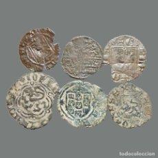 Monedas medievales: CURIOSO LOTE DE 6 VELLONES MEDIEVALES. 219-L. Lote 244750590