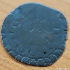 Monedas medievales: MONEDA REINO DE CASTILLA ENRIQUE II REAL DE MEDIO MARAVEDI DE VELLON CUENCA CUENCO 1369 - 1379. Lote 245448360