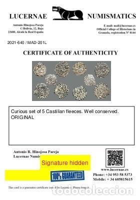 Monedas medievales: Curioso lote de 5 vellones medievales. 201-L - Foto 3 - 245606845