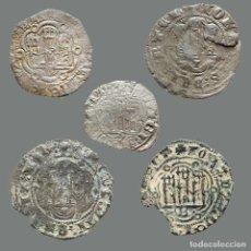 Monedas medievales: CURIOSO LOTE DE 5 VELLONES MEDIEVALES. 201-L. Lote 245606845
