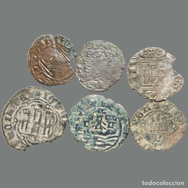 Monedas medievales: Curioso lote de 6 vellones medievales. 219-L - Foto 2 - 245610185