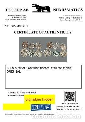 Monedas medievales: Curioso lote de 6 vellones medievales. 219-L - Foto 3 - 245610185
