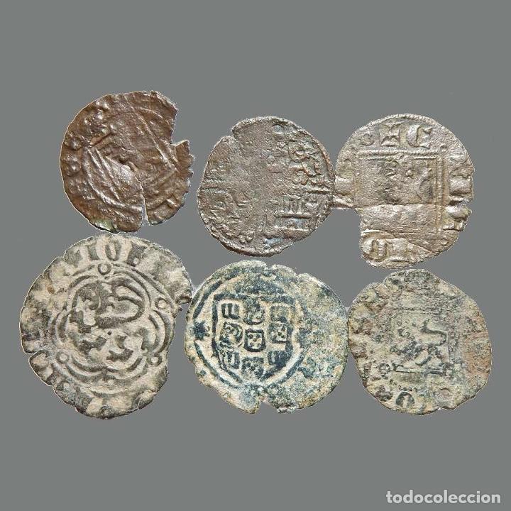 CURIOSO LOTE DE 6 VELLONES MEDIEVALES. 219-L (Numismática - Medievales - Castilla y León)