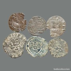 Monedas medievales: CURIOSO LOTE DE 6 VELLONES MEDIEVALES. 219-L. Lote 245610185