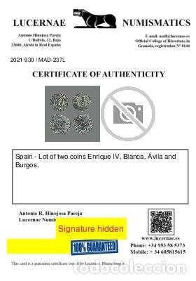 Monedas medievales: España - Lote 2 monedas - Enrique IV, Ávila y Burgos. 237-L - Foto 2 - 245610345