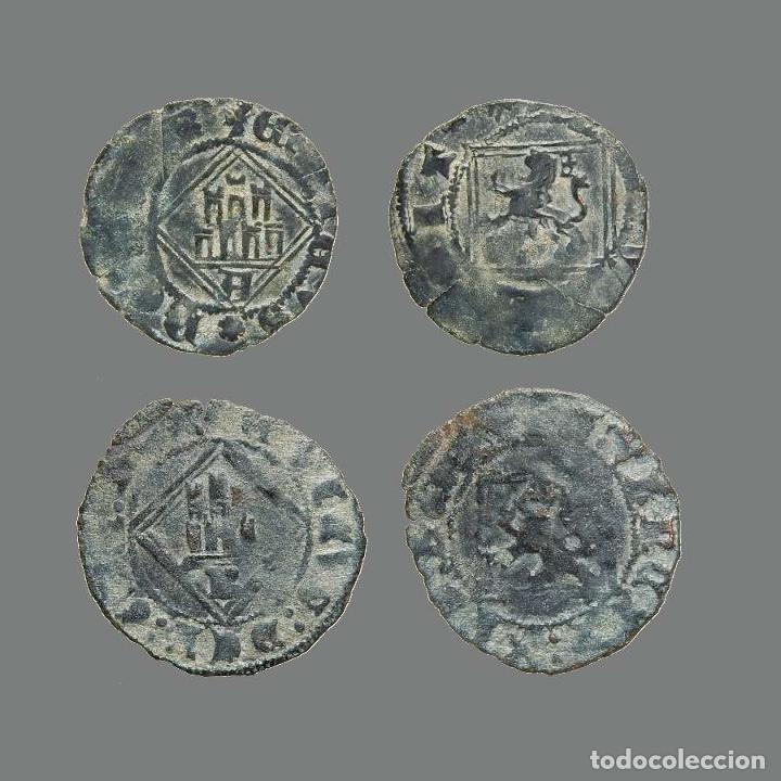 ESPAÑA - LOTE 2 MONEDAS - ENRIQUE IV, ÁVILA Y BURGOS. 237-L (Numismática - Medievales - Castilla y León)