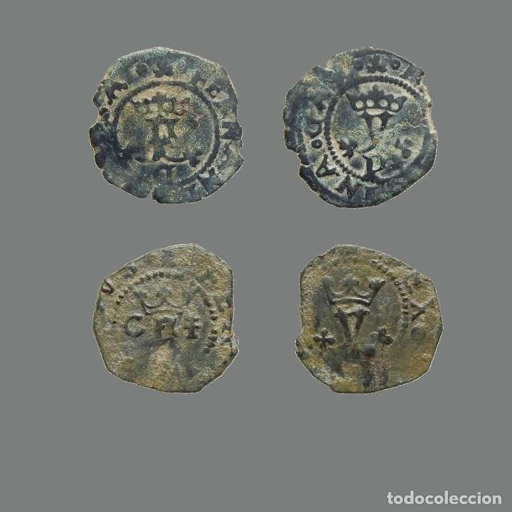 ESPAÑA - LOTE 2 MONEDAS - REYES CATÓLICOS, CUENCA. 243-L (Numismática - Medievales - Castilla y León)