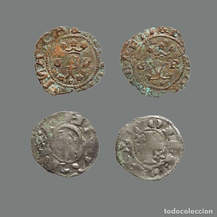 ESPAÑA - 2 MONEDAS - ALFONSO I, RR CC, TOLEDO-GRANADA. 245-L (Numismática - Medievales - Castilla y León)