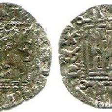Monedas medievales: ENRIQUE II NOVE DE BURGOS, (B) BAJO CASTILLO, ERROR DE ACUÑACIÓN EN EL LEÓN , POR REBOTE DEL TROQUEL. Lote 251698245