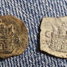 Monete medievali: LOTE 2 BLANCAS DE FELIPE II. A CLASIFICAR. Lote 259320315