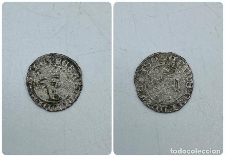 MONEDA. JUAN I. BLANCA DEL AGNUS DEI. BURGOS B. B DELANTE DEL CORNADO. VER (Numismática - Medievales - Castilla y León)