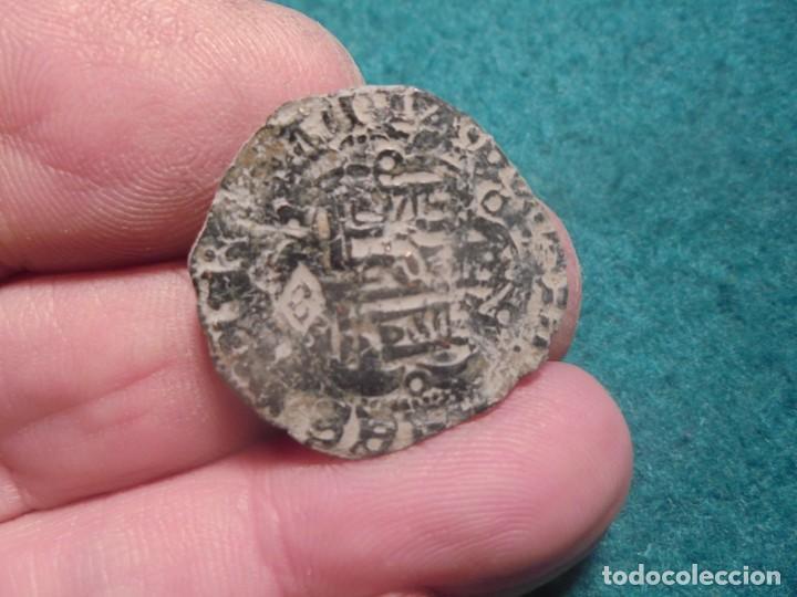 BONITA BLANCA DE ENRIQUE III, CON UN RESELLO A IDENTIFICAR (Numismática - Medievales - Castilla y León)