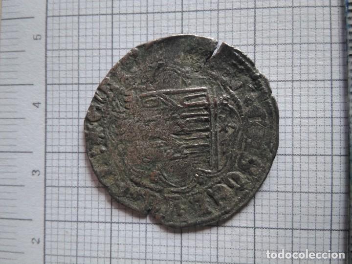 Monedas medievales: Moneda un cuarto de real de Enrique IV, vellón rico,ceca de toledo - Foto 2 - 260525525
