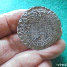 Monedas medievales: CURIOSO PLOMO MEDIEVAL DE DOCUMENTO O MERCANCIAS , CON LEYENDA A IDENTIFICAR. Lote 261980000