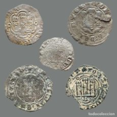 Monedas medievales: CURIOSO LOTE DE 5 VELLONES MEDIEVALES. 201-L. Lote 262143120