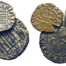 Monedas medievales: SANCHO IV. LEÓN. CORNADO. 1284-1295. MÁS ALFONSO XI. BURGOS. NOVEN. 1312-1350. ENRIQUE III. TOLEDO... Lote 262875495