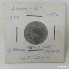 Monnaies médiévales: JUAN I. AGNUS DEI. 1/2 BLANCA. CECA SEVILLA. EXTRAORDINARIO EJEMPLAR. Lote 264308316