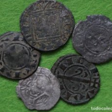 Monnaies médiévales: LOTE DE CINCO MONEDAS MEDIEVALES. TODAS DIFERENTES. Lote 264503859