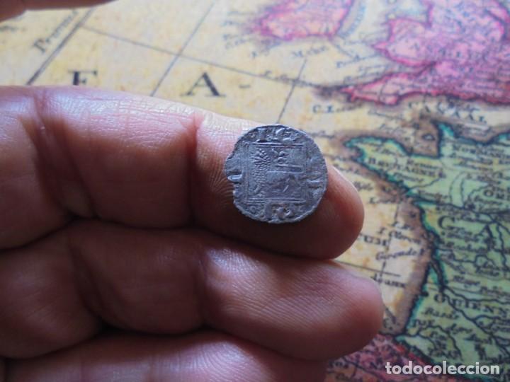 BONITO OBOLO DE ALFONSO X , CECA CRECIENTE EN PUERTA (Numismática - Medievales - Castilla y León)