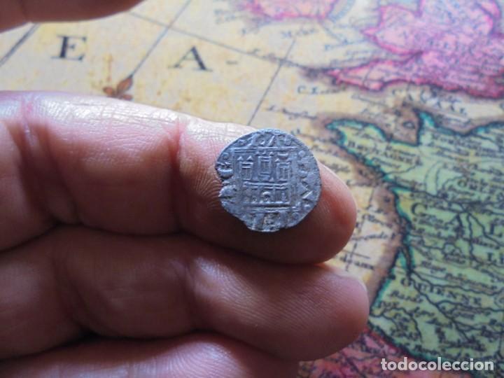 Monedas medievales: BONITO OBOLO DE ALFONSO X , CECA creciente en puerta - Foto 2 - 270178303