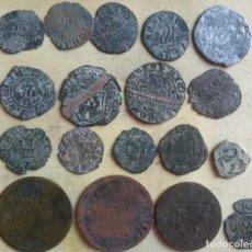Monedas medievales: LOTE DE 18 MONEDAS MEDIEVALES DE VARIAS ÉPOCAS.. Lote 276418053