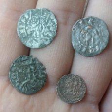 Moedas medievais: BONITO LOTE DE 4 MONEDAS MEDIEVALES CON CARAS DE REYES.. Lote 276418188