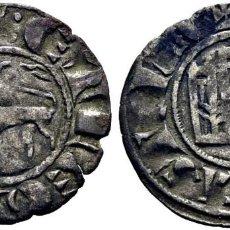 Monedas medievales: FERNANDO IV (1295-1312). BURGOS. DINERO. VELLÓN. DOS PUNTOS AL INICIO DE LEYENDA DEL REVERSO. ESCASA. Lote 277102213
