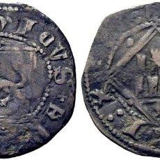 Monedas medievales: ENRIQUE IV (1454-1474). ÁVILA. DINERO. VELLÓN. DOBLES PUNTOS EN ANVERSO Y CRUCES EN REVERSO. Lote 278959083