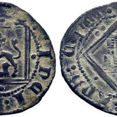 Monedas medievales: ENRIQUE IV (1454-1474). ÁVILA. DINERO. VELLÓN.DOBLES PUNTOS EN VERTICAL EN LEYENDAS.. Lote 278959813