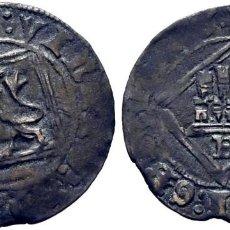 Monedas medievales: ENRIQUE IV (1454-1474). BURGOS. DINERO. VELLÓN. DOBLES PUNTOS VERTICALES EN LEYENDAS Y SIN ADORNOS. Lote 278961498