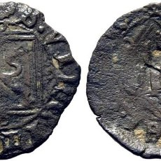 Monedas medievales: ENRIQUE IV (1454-1474). TOLEDO. DINERO. VELLÓN. LEYENDAS SEMI PÉRDIDAS. RESELLADA CON ESCUDO. Lote 278966728