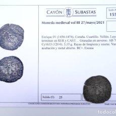 Monedas medievales: ENRIQUE IV, CUARTILLO. VELLÓN. CECA: CORUÑA. SUBASTA CAYÓN MONEDA MEDIEVAL. Lote 280400243