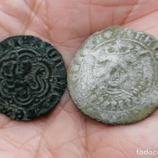 Monnaies médiévales: LOTE 2 MONEDAS MEDIEVALES CUARTILLO Y BLANCA. Lote 285055963
