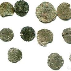 Monedas medievales: 8 MEDIEVALES, DE ENRIQUE IV - SANCHO IV - ALFONSO IX - JUAN II Y ENRIQUE II. Lote 289910263