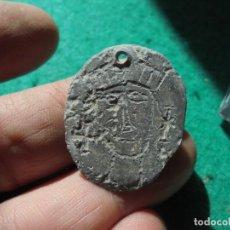 Monedas medievales: CURIOSA Y RARA IMPRONTA EN PLOMO DE UN SELLO MEDIEVAL ,CABEZA HUMANA. Lote 290654138