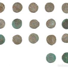 Monedas medievales: ESPAÑA - ALFONSO X (1252-1284) - LOTE DE 17 PIEZAS - NOVEN DE VELLÓN DE LEÓN, CASTILLA Y LEÓN.. Lote 295981838