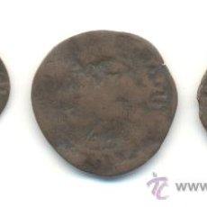 Monedas medievales: 3- TRES PIEZAS DISTINTAS ALFONSO IV (1416-1458) CECA DE MALLORCA ESCUDOS, PERROS Y MONTELISADOS. Lote 30177107