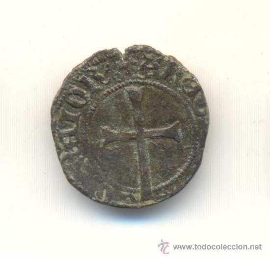 Monedas medievales: 28-BONITO DOBLER DE JUAN II CECA DE MALLORCA (1458-1479) MARCA ESCUDOS CATALUÑA CATALANES. - Foto 2 - 30996951