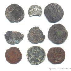 Monedas medievales: 40- BARATO LOTE DE NUEVE PIEZAS DIVERSAS A CLASIFICAR.. Lote 40938496
