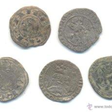 Monedas medievales: LOTE DE CINCO MONEDAS DIVERSAS A CLASIFICAR. LAS DE LA FOTO.. Lote 45729228