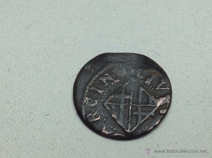 Monedas medievales: ANTIGUA MONEDA CATALANA ARDITE DINERO DE BARCELONA FELIPE IV BARCINO/1 - Foto 3 - 54081806