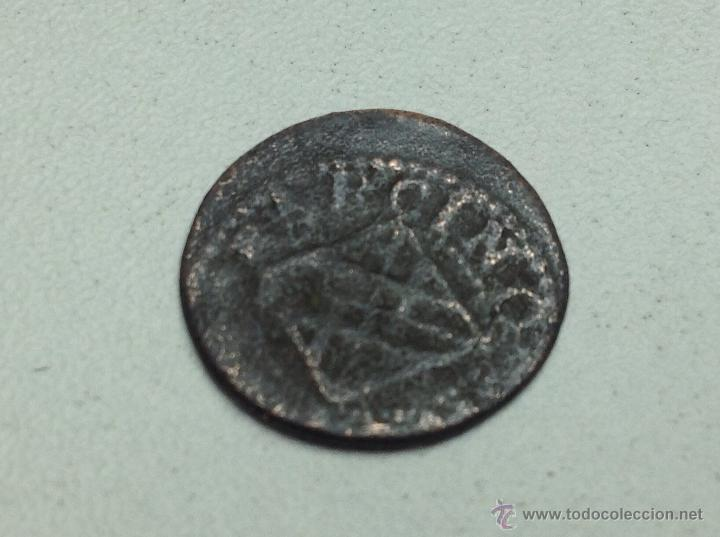 Monedas medievales: BARCINO ARDITE DINERO DE BARCELONA FELIPE IV MONEDA CATALANA - Foto 3 - 54082015